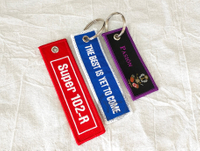 Embroidery Aircraft Keychain