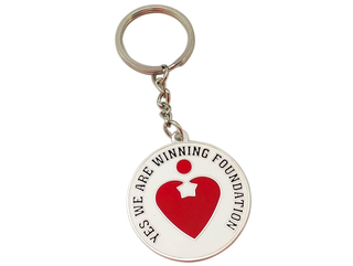 Metal Art Craft Heart Key chain