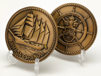Plated Bronze Military Coins