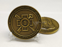 Antique Bronze Military Challenge Coin